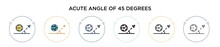 Acute Angle Of 45 Degrees Icon...