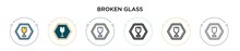 Broken Glass Icon In Filled, Thin Line, Outline And Stroke Style. Vector Illustration Of Two Colored And Black Broken Glass Vector Icons Designs Can Be Used For Mobile, Ui, Web