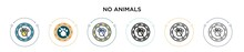 No Animals Icon In Filled, Thi...