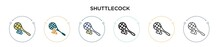 Shuttlecock Icon In Filled, Th...