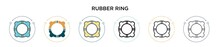 Rubber Ring Icon In Filled, Th...