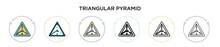 Triangular Pyramid Icon In Fil...