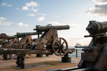 関門海峡と大砲