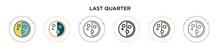 Last Quarter Icon In Filled, T...