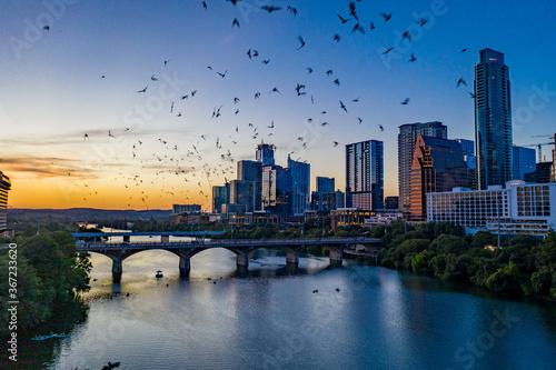 Valokuvatapetti Austin Texas Downtown Aerial