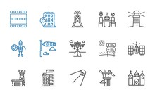 Tower Icons Set