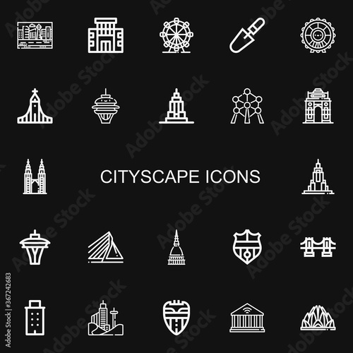 Photo Editable 22 cityscape icons for web and mobile