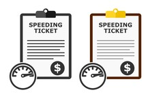 Speeding Ticket Citation Vector Set.