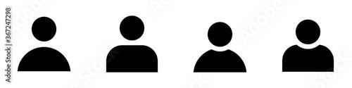 Fototapeta Personas o Usuario. Conjunto de iconos de vector icono de diferentes estilos. Aislado en un fondo blanco. obraz