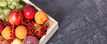 Heap Of Fruits In Wooden Box A...
