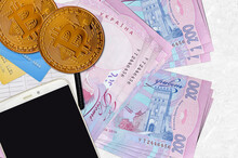 200 Ukrainian Hryvnias Bills A...
