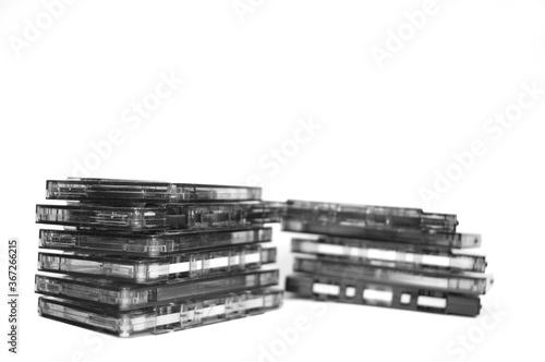 Obraz na plátně old audio cassettes - cult objects of the past
