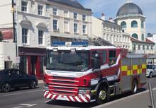 Red British Fire Engine