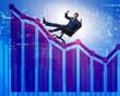 canvas print picture - Businessman in economic growth concept