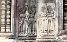 Beautiful Bas-relief In Angkor...