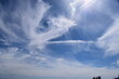 canvas print picture - dünne Schleierwolken