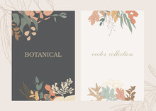 Botanical Garden. Vector Collection Of Hand Drawn Plant Elements