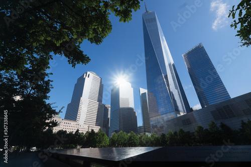 Fototapeta WTC Memorial Plaza, National September 11 Memorial, Manhattan, New York, United