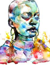 Beautiful African Woman Portra...