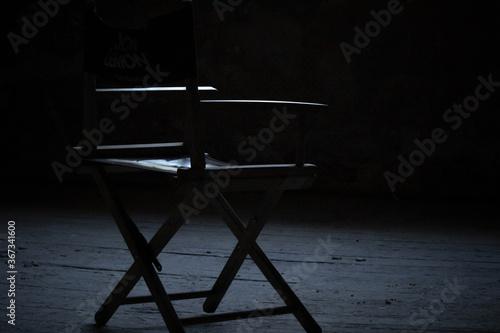 old wooden chair Fotobehang