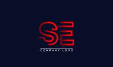 Creative Letters SE Or ES Logo Design Vector Template. Initial Letters SE Logo Design