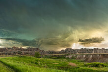 Storm At Badlands National Park