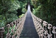 Wooden Suspension Bridge In Th...