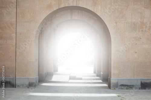 Obraz light inside the church - fototapety do salonu