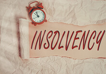 Word Writing Text Insolvency. ...