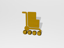 3D Graphical Image Of Cart Ver...