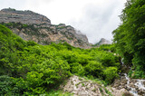Fototapeta Uliczki - Cherek gorge in the Caucasus mountains in Russia