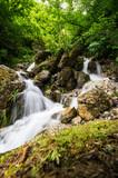 Fototapeta Uliczki - Waterfall in Cherek gorge in the Caucasus mountains in Russia