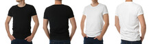 Men In T-shirts On White Backg...