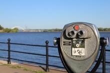 Coin Operated Binoculars On Th...