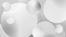 Abstract White Balls Geometric...