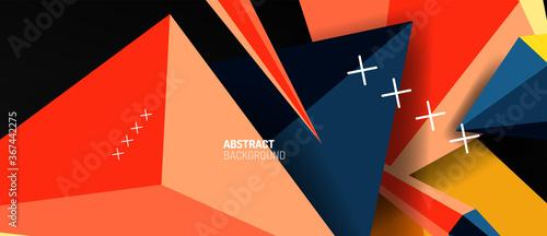 Trendy simple triangle abstract background, dynamic motion concept Tapéta, Fotótapéta