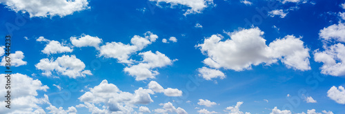 Fototapeta Panorama blue sky and clouds with daylight natural background. obraz