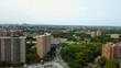 Aerial View of Large Hi-Rise Apartment Buildings