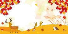 秋の風景 背景イラスト