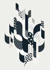 Abstract elegant geometric composition.