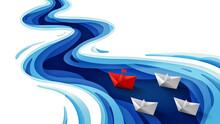 Leadership Concept, Origami Re...