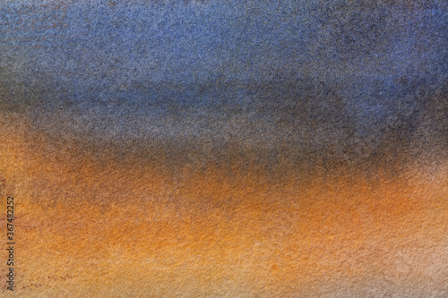 Abstract art background navy blue and orange colors Wallpaper Mural