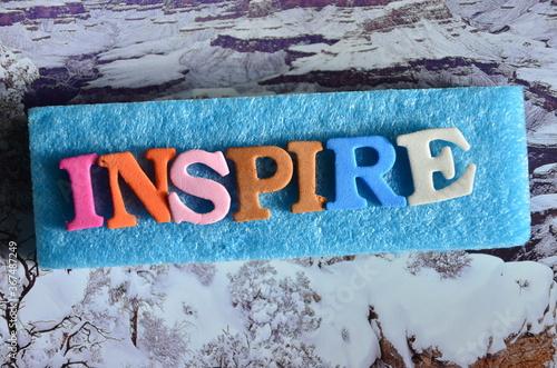 Obraz SLOWO INSPIRE - fototapety do salonu