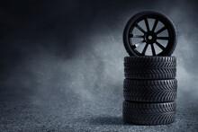 Car Tire On The Street