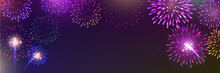 Brightly Colorful Fireworks Wi...
