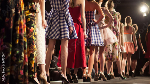 Obraz na plátně Fashion Show, Catwalk Runway Event, Fashion Week themed photograph