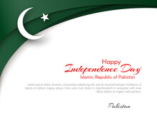 Pakistan Flag Theme Card With ...