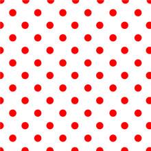 Large Red Polka Dot Pattern