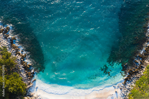 Plakaty do sypialni  sunrise-over-marble-beach-porto-vathy-in-thassos-island-greece