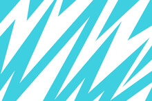 Blue And White Zig Zag Wavy Lightning Pattern